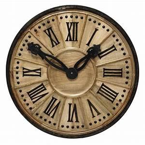 Horloge En Metal : horloge d corative en bois d 120 cm langlois maisons du monde ~ Teatrodelosmanantiales.com Idées de Décoration