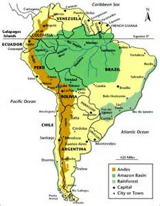Amazon Rainforest South America Map