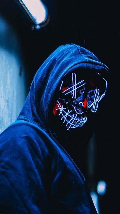 Mask Led Purge Wallpapers 5k 1080 1440