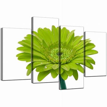 Canvas Lime Wall Flower Living Floral Piece
