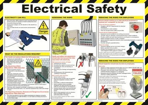 Electrical Safety Poster   Safety Services Direct