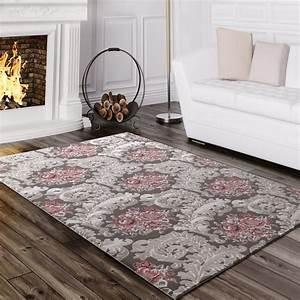 Teppich Rosa Grau : designer teppich ornamente grau rosa design teppiche ~ Orissabook.com Haus und Dekorationen