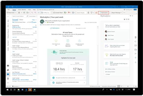 Office 365 Mail Focused by Microsoft Brings Myanalytics To Microsoft 365 And Office