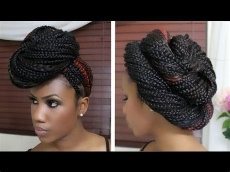 4 styles for box braids part one youtube