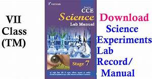 Vii Class Science Experiments Lab Record   Manual Telugu