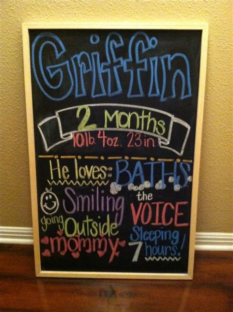 Chalkboard Baby Month Signs