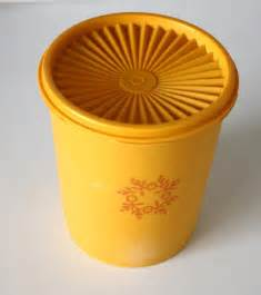 Yellow Tupperware Canisters