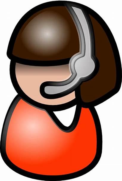 Clip Clipart Voice Representative Icon Operator Telephone