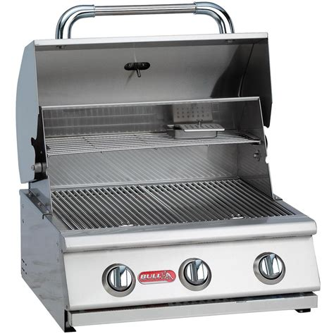 cost of built in grill bull steer 3 burner built in natural gas grill bbq guys