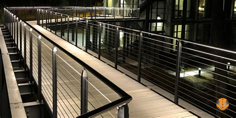 led illuminated railing viva railings high performance