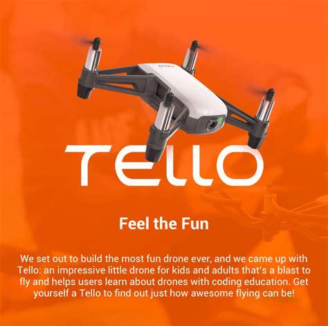 ryze tello quadcopter powered  dji