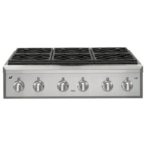 stove tops home shop ge cafe 6 burner gas cooktop stainless steel