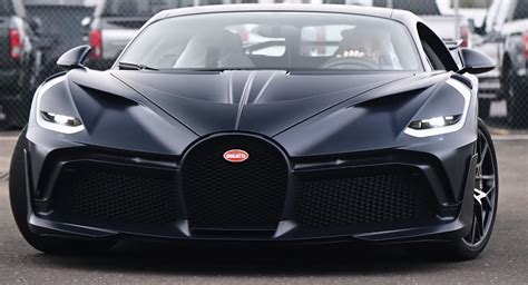 Stephan winkelmann, president of bugatti, said: This Bugatti Divo Is Bathed In Exposed Matte Blue Carbon Fiber   Carscoops