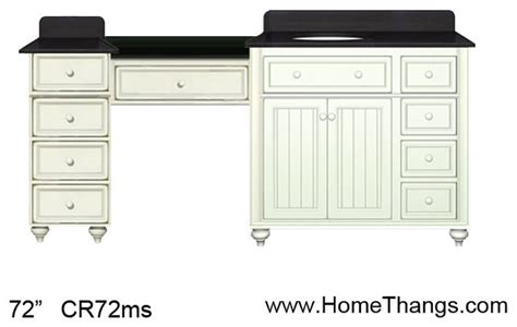 sagehill designs 72 quot bathroom vanity with make up station