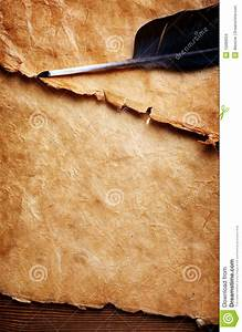 Feather pen and old paper stock photo. Image of implement ...