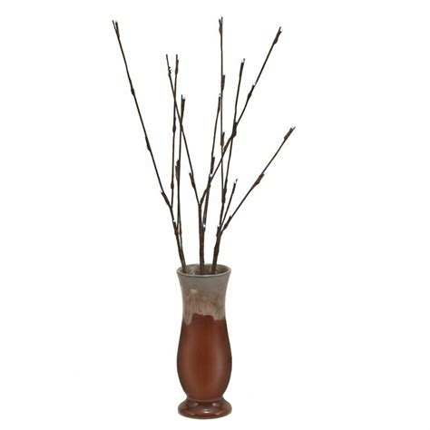 Vase With Branches by Led Light Branch With Twig Tip In Fireglazed Vase With 6