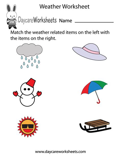 weather worksheet    printable weather