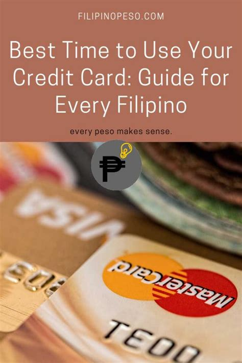 Receive those text alerts, and you'll know when you have to stop using your card for the month. Best Time to Use Your Credit Card: Guide for every Filipino - Filipino Peso