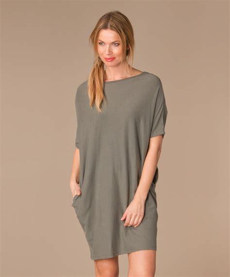 t shirt jurk grijs