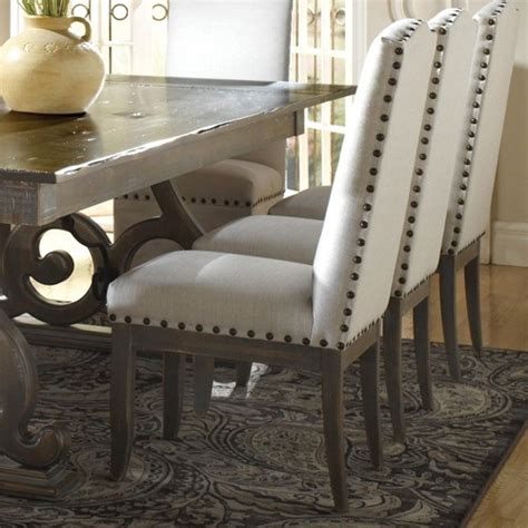 nailhead dining chairs traditional upholstered dining