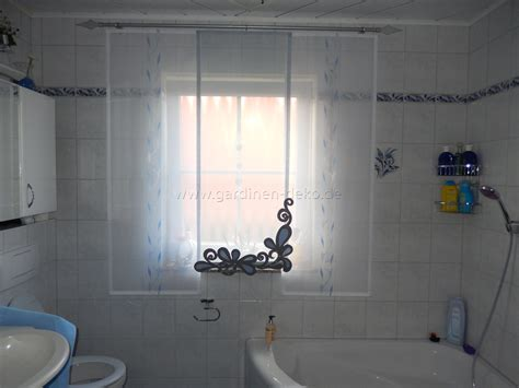 Heller Badezimmer Schiebe-vorhang In Weiß-blau