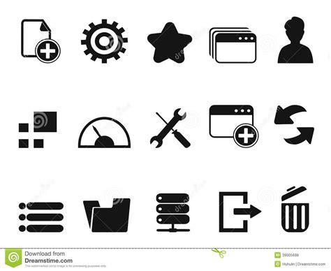 Web Dashboard Icons Set Stock Vector