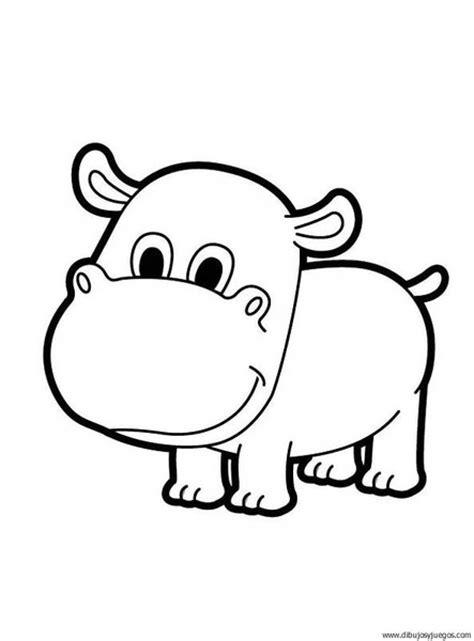 dibujo de hipopotamo 000 Dibujos y juegos para pintar y