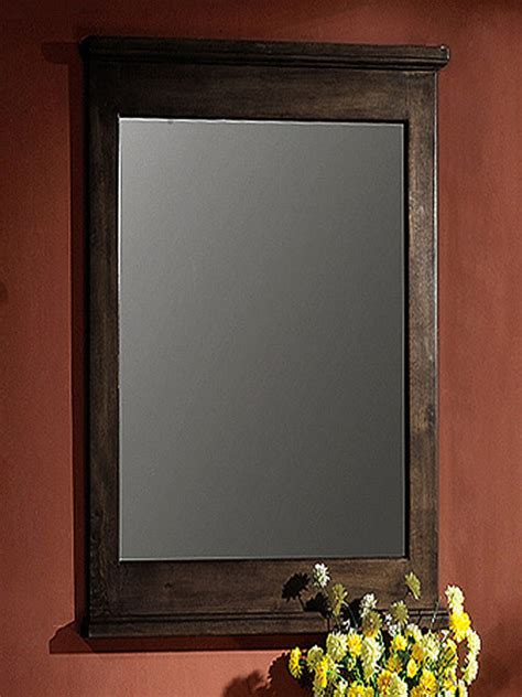 Walnut Bathroom Mirrors by Walnut 24 Inch Wall Mirror Contemporary Mirrors