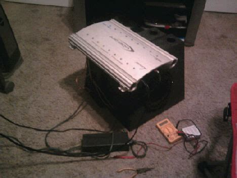 Diy Home Stereo With Car Amplifier