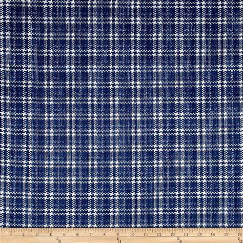 kaufman cotton boucle prints plaid indigo discount