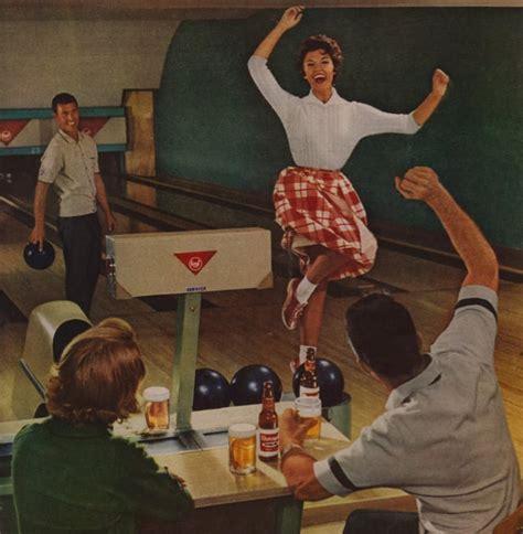 lets  drunk   bowling vintage beer ads