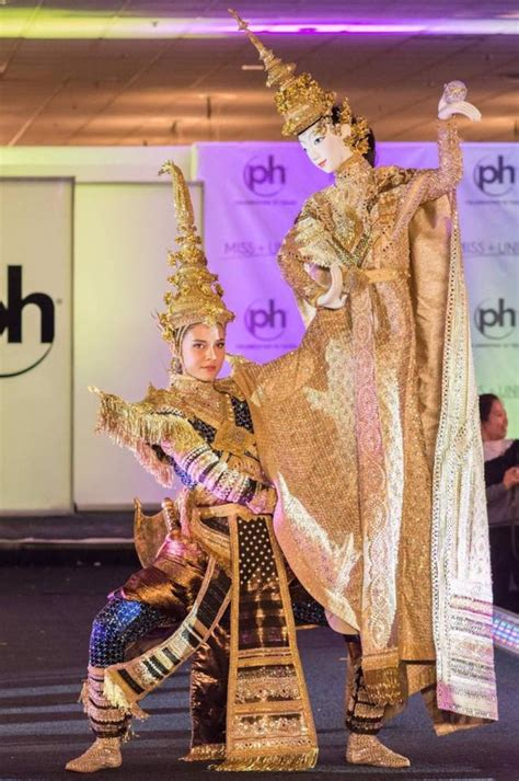 universe thailand debuts  god  thunder costume