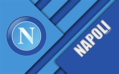 Download Wallpapers Napoli Fc, Logo, 4k, Material Design
