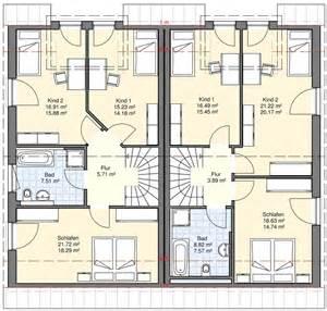 grundriss modern doppel und reihenhäuser bgw hausbau