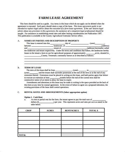 9+ Sample Land Lease Agreement Templates  Sample Templates