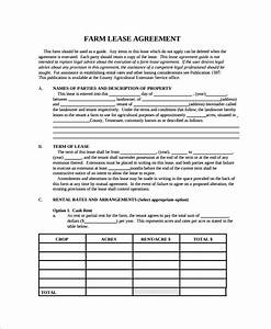 8 land lease agreement templates free sample example With land rental contract template