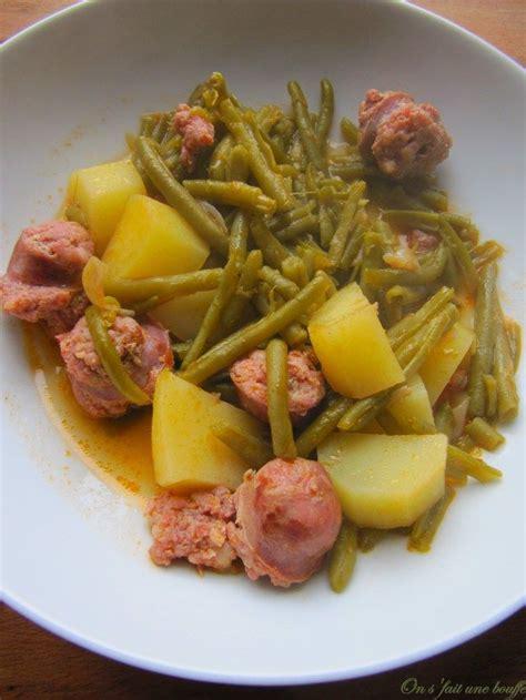 saucisses de toulouse aux haricots verts et pommes de terre multicuiseur recettes