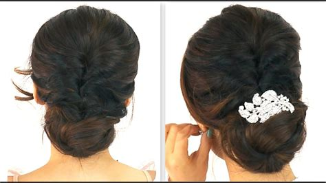 min easiest party updo everyday braided bun prom