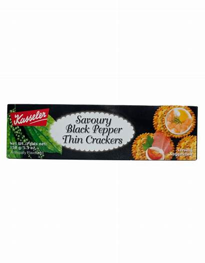 Crackers Kasseler 150g Pepper Thin