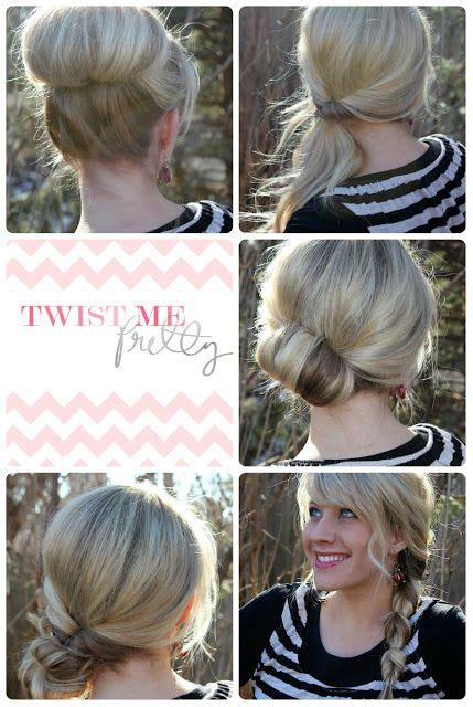18 quick and simple updo hairstyles for medium hair hair