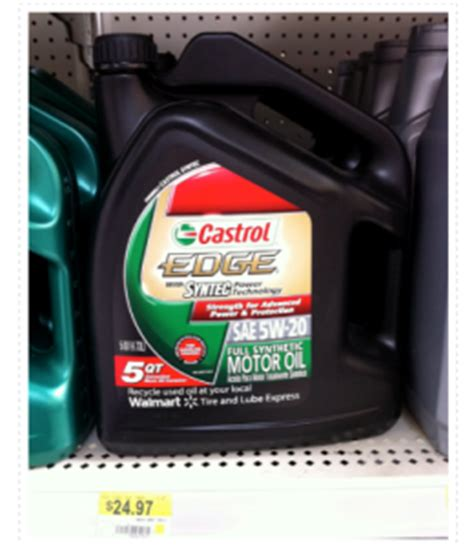 5 qt castrol motor oil only 19 97 at walmart new coupon