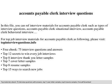 Accounts Payable Questions And Answers For by Accounts Payable Clerk Questions