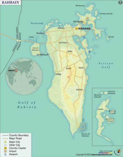 Buy Bahrain Country Map