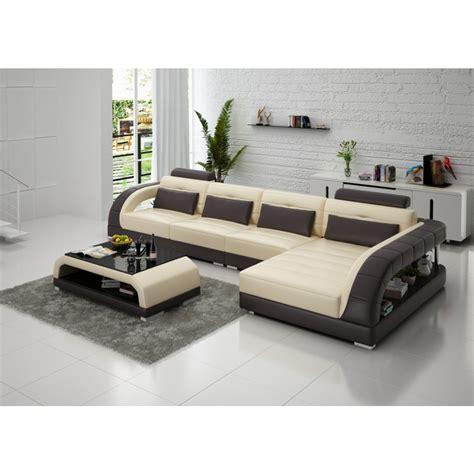 canapé en canapé d 39 angle en cuir pleine fleur enzo pop design fr