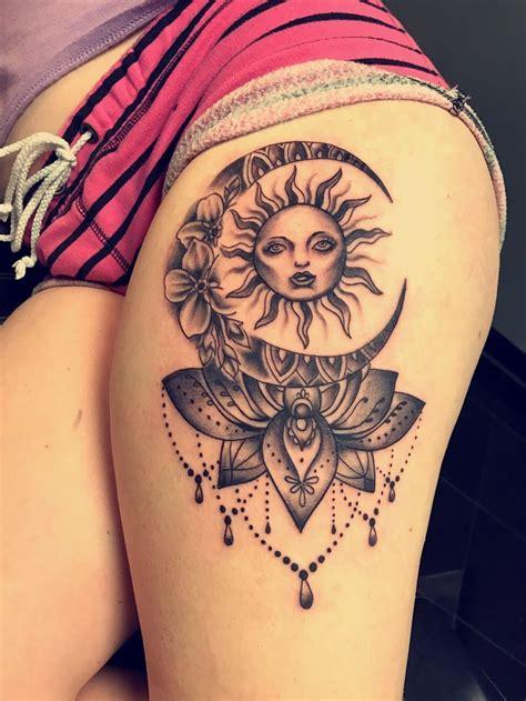 image result  sun  moon tattoo taetowierungen tattoo ideen und bein taetowierungen