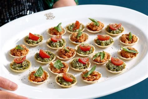 canape cups recipes basil and ricotta tartlets