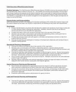 10 sample executive director job descriptions sample With ceo job description sample