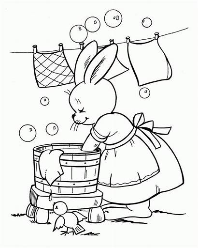Coloring Washing Clothes Colouring Easter Ausmalbilder Kleidung