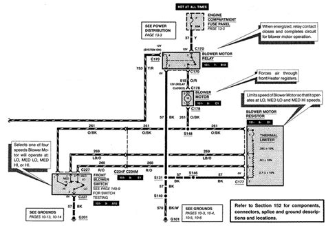 Ford Econoline E350 Blower Wiring Schematic by My 1995 Ford E 150 Front Fan Will Not Work But The