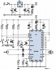 Isd2500 Recorder Circuit
